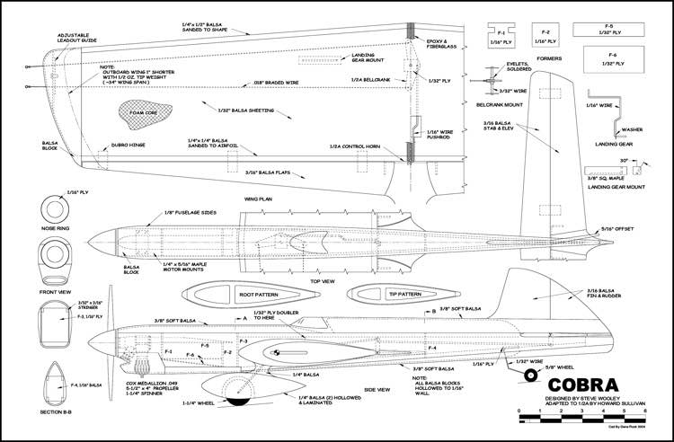 Cobra 3 model airplane plan